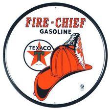 Vintage Replica Tin Metal Sign poster Texaco Fire Chief Gas Oil Motor logo 204