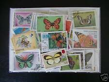 100 TIMBRES PAPILLONS : 100 TIMBRES TOUS DIFFERENTS / STAMPS BUTTERFLIES ****