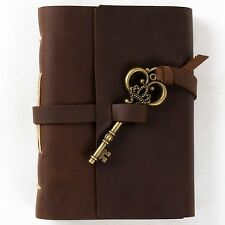 Ancicraft Leather Journal Diary with Vintage Key A6 Lined Paper Unique Gift