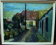 Arnold William Pedersen 1912-1986, expressive Dorfstrasse, um 1940/50