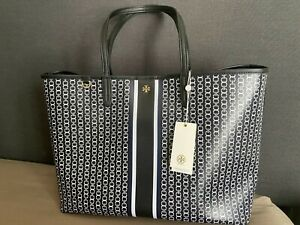 **NWT** TORY BURCH Gemini Link Coated Canvas Tote Color Black