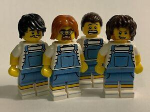 original LEGO parts only - 4 BOYS in UNIFORMS - genuine lego parts lot