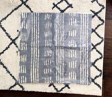 "Pottery Barn Gray Bohemian Shibori Dot 24"" Pillow Cover New in Package"