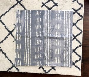 "Pottery Barn Gray Bohemian Shibori Dot 24"" Pillow Cover New in Package"