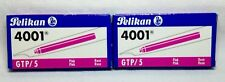 Pelikan Large GTP/5 Ink Cartridges PINK 2 Packs of 5 each (10 Total Cartridges)
