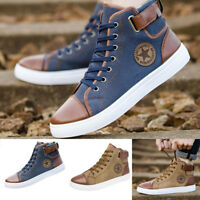 Men's Women Causal Shoes Lace-Up Ankle Boots Shoes Casual High Top Canvas Shoes