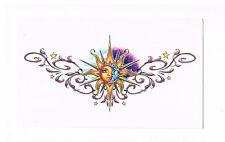 1 x Beautiful Lower back temporary tattoo - Sun & Moon design