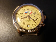 NEW NOS POLJOT Moscow Rome Watch Russia 3133 Chronograph Mechanical