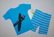 Schlafanzug~USA~92-98~CARTER'S~2 tlg~Pajama~Nachtwäsche~kurz~Flugzeug~Baumwolle