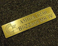 Amiga1230 Blizzard MK IV Label / Logo / Sticker / Badge gold 49 x 13 mm [412b]