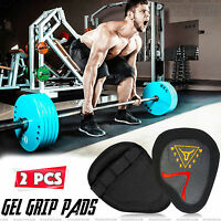 WYOX Hand Grip Weight Lifting Pads Workout Gloves Gym Fitness Pro Palm Grip Pair