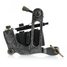 Tattoo Machine Shader Gun Liner Rotary 10 Motor New Wrap Coils Pro Alloy Black