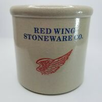 Red Wing Stoneware 1/2 Half Gallon Crock Minnesota State Seal