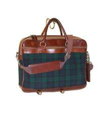 "Pendleton Plaid Wool Leather 15"" Briefcase / Messenger Bag / Vintage"