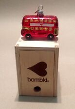 Bombki glass Christmas bauble Little London Bus, boxed, free post