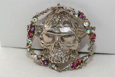 Hand encrusted made with Swarovski skull belt buckle