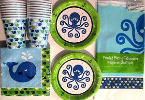 OCEAN PREPPY BOY BLUE - Birthday Party Supplies Set Pack Kit 16