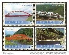 2010 TAIWAN BRIDGES(IV) 4V STAMP