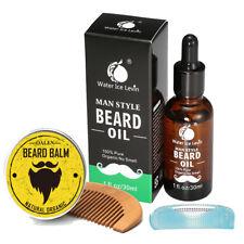 Pro Beard Grooming Kit, Beard Balm , 100% Natural Organic Moustache Oil & Comb