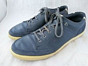 Cole Haan Grand.OS Blue Leather Fashion Sneakers Sz 14 W
