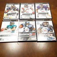 Lot of 6 Madden Football Playstation 2  PS2 Games 03,04,05,06,07,08