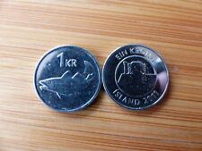 Pièce monnaie ISLANDE ICELAND 1 KRONUR 2011 cabillaud morue cod NEUF UNC NEW