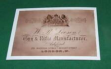W R Leeson GUN & RIFLE MAKER  GUN CASE LABEL gunmaker Repo Gun Maker