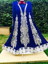 Asiatico/indiano/pakistano di marca cucite MATRIMONIO/PARTY/Formale/Maxi/slivertarkshi