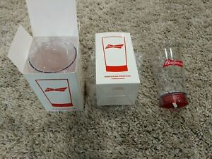 Budweiser Goal Synced Red Light Glass - Set of 2 RARE SYNC