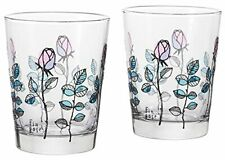 ADERIA Glassware Fin Rose Tumbler Classical Pair Set 365ml S-6114 MADE IN JAPAN