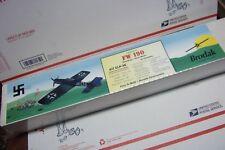 NEW IN WRAP -BRODAK'S -FOCKE-WULF- FW-190- PROFILE C/L BALSA MODEL AIRPLANE KIT