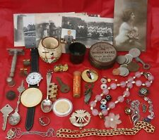 Reseller Eclectic Bulk Lot Antiques Collectibles Coins Cards Jewellery Silver (1