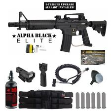 Tippmann US Army Alpha Elite E-Grip Tactical HPA Red Dot Paintball Gun Package