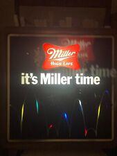 Vintage 1982 Miller High Life Beer Working Lighted Motion Bouncing Ball Sign