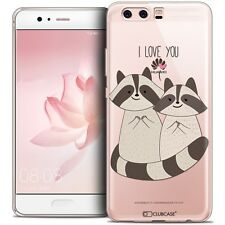 Coque Crystal Gel Pour Huawei P10 Extra Fine Souple Sweetie Racoon Love