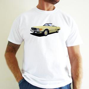 MERCEDES BENZ SL CAR ART T-SHIRT. PERSONALISE IT!