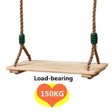 150Kg Altalena Seduta Seggiolino in legno Per Bambini Gioco Giardino Adulto