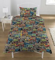 Single Bed Duvet Cover Set BBC Dr Who Dalek Comic Book Print Polycotton Bedding