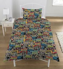 Doctor Who Comics Single Duvet Cover and Pillowcase Set Official