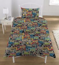 Single Bed Duvet Cover Set BBC Dr Who Dalek Comic Book Print Polycotton Bedding