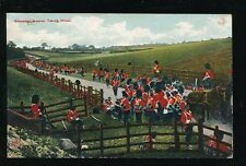 Military GRENADIER GUARDS taking water during march Used 1907 PPC