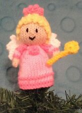 KNITTING PATTERN - Christmas Fairy with wand 12cms Tree Topper
