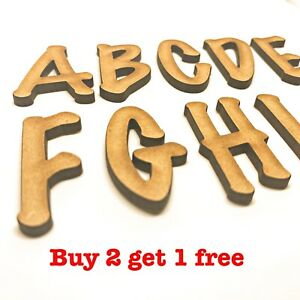 Decorative Wooden Letters Large Small 2cm-40cm MDF Wall Hanging Wall Decor