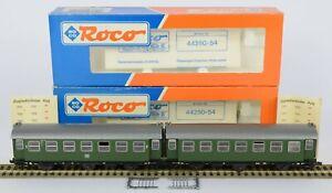 2x ROCO 44252 DB COACHES 3 AXLE NEM CLOSE COUPLINGS DETAILING V Nr MINT & MINT