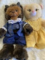 Build a bear beauty and the beast lot of 2 with outfits clothing BAB