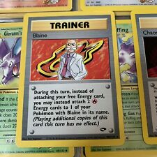 Gym Challenge Part Complete Set 56/132 Rare Common And Uncommon Cards