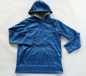 Puma Boys Polyester LS Royal Blue Geometric Hoodie Sweatshirt Youth Large