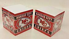 NFL Kansas City Chiefs, Note Pad Cubes (2 Cubes) NEW
