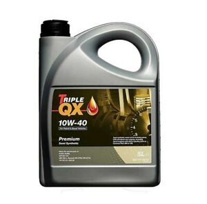Car Engine Oil Triple QX 10W40 Diesel Multigrade Semi Part Synthetic 5L 5 Litres