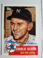 D-2019 1953 Topps Archives Charlie Silvera 1991 Autograph Card Yankees Auto